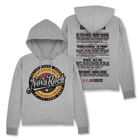 √Retro Badge von Nova Rock Festival - Girlie hooded sweater jetzt im My Festival Shop Shop