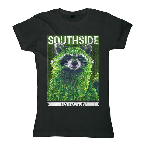 √Early Racoon von Southside Festival - Girlie Shirt jetzt im My Festival Shop Shop