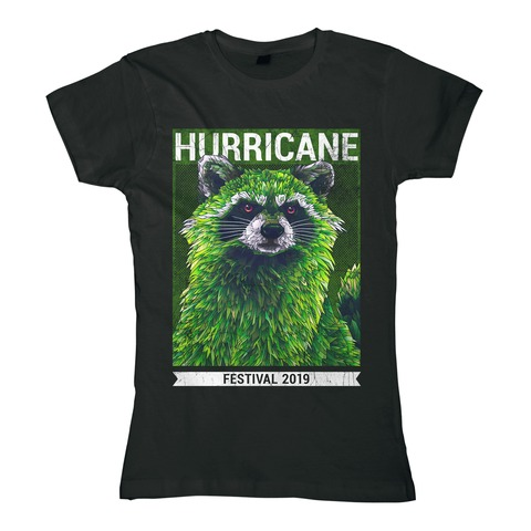 √Early Racoon von Hurricane Festival - Girlie Shirt jetzt im My Festival Shop Shop
