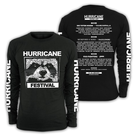 √Black and White von Hurricane Festival - Long-sleeve jetzt im My Festival Shop Shop