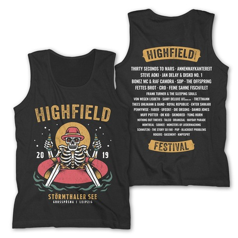 √Chill Out von Highfield Festival - Men's Tank Top jetzt im My Festival Shop Shop