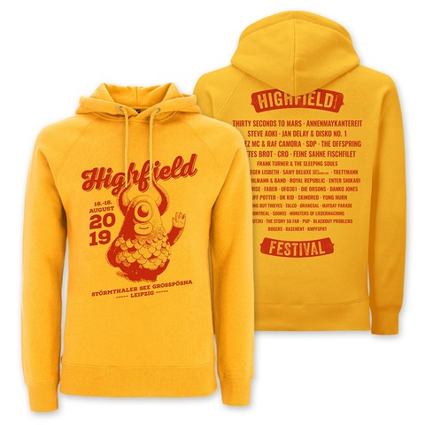 √Highfiene Says Hi von Highfield Festival - Girlie hooded sweater jetzt im My Festival Shop Shop